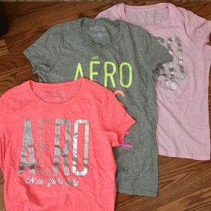 Aeropostale Set of 3 Short Sleeve Shirts in XL